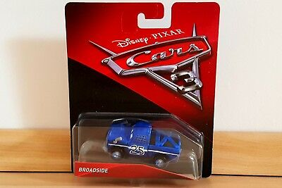 Disney Cars 3 2017 BROADSIDE 1:55 von Mattel aus Metall *NEU&OVP*
