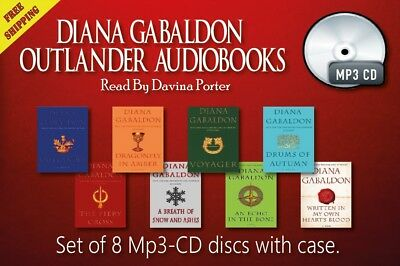 8 audiobooks - The Outlander Series by Diana Gabaldon CD-MP3 UNABRIDGED.