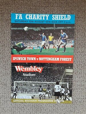 IPSWICH TOWN v NOTTINGHAM FOREST 12/08/1978 Charity Shield @ Wembley