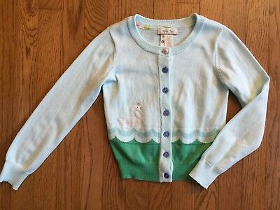 MATILDA JANE HELLO LOVELY Lake Queen Cardigan Sweater 6 Swan Mint Blue Green