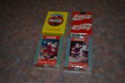 4 Decks Of Coca Cola Playing Cards, Sealed