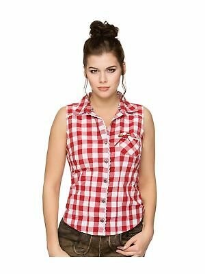 Stockerpoint Traditional Blouse Sleeveless Dalia Red