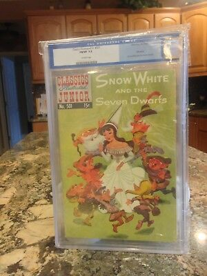Classics Illustrated Junior #501 Snow White and the Seven Dwarfs  CGC rated 7.0