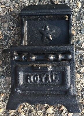 Heavy VINTAGE Black CAST IRON TOY MINIATURE Stove by ROYAL