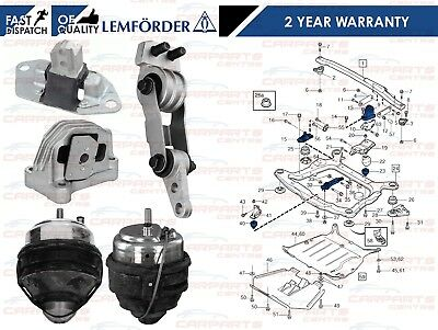 For Volvo S60 V70 Xc90 Front Rear Engine Mountings Mounts 5 Piece Kit Lemforder