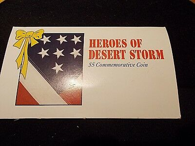 Heroes Of Desert Storm $5 Commemorative Coin Original Packet Marshall Islands