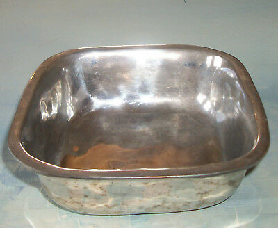 Vintage Hand Hammered Hand Made Silver Bowl Square Hand Signed=Sale
