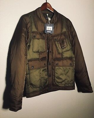 """BARBOUR NWT! $495 Medium Olive """"Whinyama"""" Quilted Camo Coat Jacket - Beautiful!"""