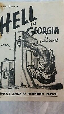 Original Pamphlet HE'LL IN GEORGIA WHAT  ANGELO HERNDON FACES August 1935
