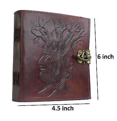 Hand Tooled Embossed  Life Of Tree 4.5x6  Leather Bound Journal