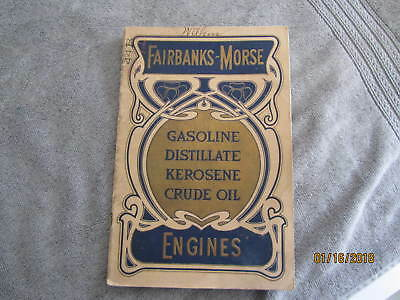 1904 Fairbanks Morse Gas Engine  Manual  Original
