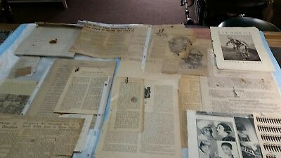 Large original lot of vintage papers articles Blacks in the American south