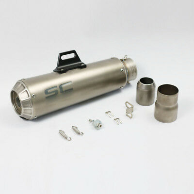 Motorcycle Exhaust Pipe Muffler Inlet 60mm Escape SC Exhaust Mufflers stainless
