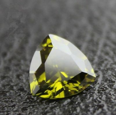 10.23ct Unheated Olive Green SAPPHIRE 12MM Trillion Cut AAA COLOR LOOSE GEMSTONE