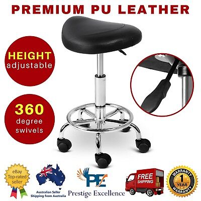 Salon Stool Hairdressing Chair Barber Beauty Swivel Hydraulic Lift Saddle Black