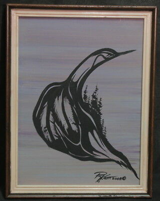Native Canadian Artist Randy Knott Signed Oil Painting