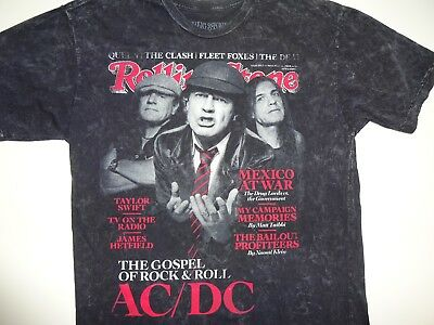 Vintage AC/DC Rolling Stone Collection 2008 Cover Concert Tour ACDC T-SHIRT L