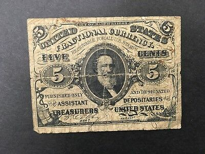 USA  5 Cents  1863  -- Fractional