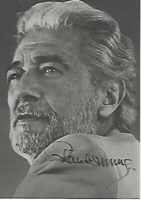 Placido Domingo: Autogramm