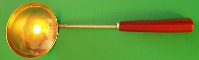 Vtg Red Bakelite handle Stainless Steel Ladle Dipper Utensil Englishtown