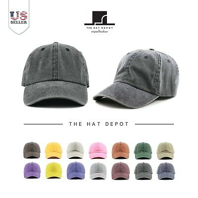 Pigment Dyed  Low Profile Cotton Six Panel Baseball Cap Hat