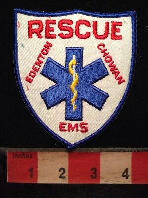 Vintage EDENTON CHOWAN EMS RESCUE PATCH NORTH CAROLINA COUNTY EMERGENCY 5NU3