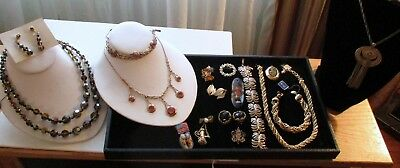 Large  Lot Of Antique And Vintage Signed Beautiful Jewelry Must See!