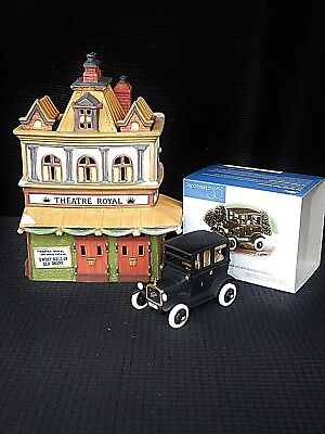Retired Department 56~Theatre Royal & 1919 Ford Model T Dickens Village  Mib