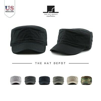 b344692c12bff7 The Hat Depot Cadet Army Washed Cotton Basic Cap Military Style Hat