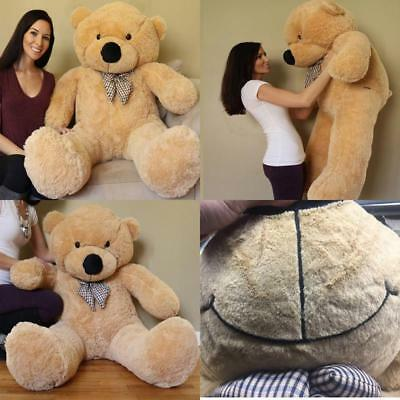 Giant 5ft Teddy Bear Soft Stuffed Plush Animal Valentines Day Gift For Her