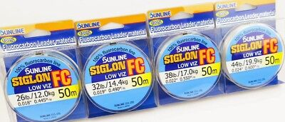 SUNLINE SIGLON FC Fluorocarbon Super Fishing Line leader Low Visible ALL SIZES
