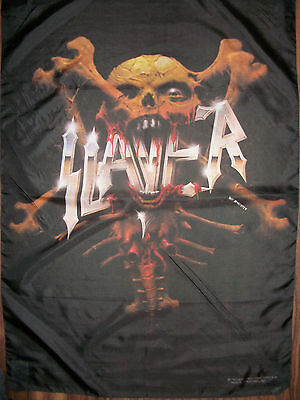 Slayer - Crooked Skull - Flagge/Fahne - Posterflag - Metal - RARE