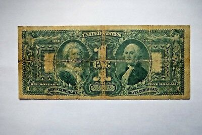 1896 $1 One Dollar Silver Certificate Fr #225 Educational Note