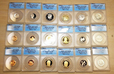 2009-S Clad Proof Set ANACS PR70 Deep Cameo in a Beautiful Wooden Display Box