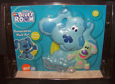 Blues Clues Decorative Wall Art Hangings Nursery Bedroom Decor 2 Piece Set