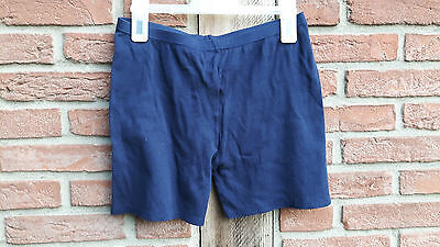 Blaue Retro Hotpants Radlerhose tights 80er Gr 40 42 etirel
