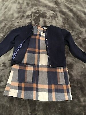 Girls Gorgeous Next Outfit 3-4 Years Dress And Cardigan Set Ex Condition