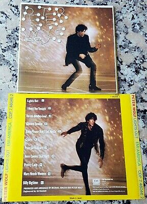 PETER WOLF Lights Out 1984 RARE CD I Need You Tonight MINT Made in USA J. Geils