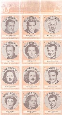 1940's HOLLYWOOD STAMPS OF THE STARS AND STUDIOS FIRST SERIES-K-ORANGE VERSION