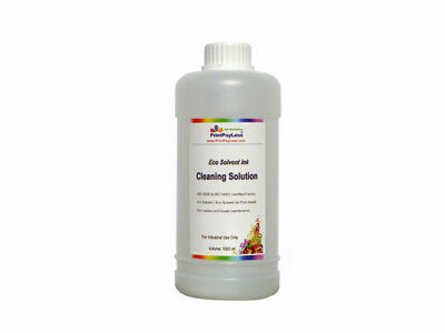 1 Liter Eco Solvent Cleaner Cleaning Solution for HP Seiko Printheads USA Seller