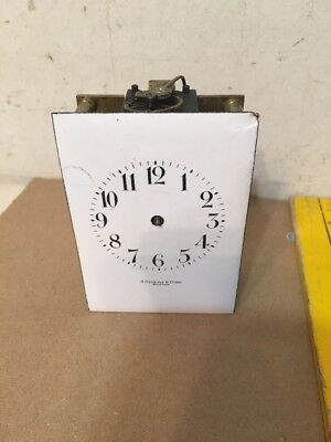 Antique French Carriage Clock Movement Stowell Boston Retailer