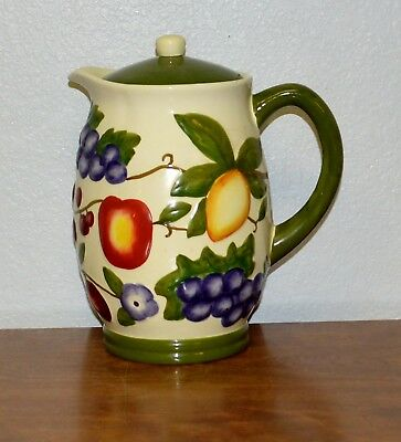 Hand Painted For Nonni's Pitcher Cookie Jar With Lid