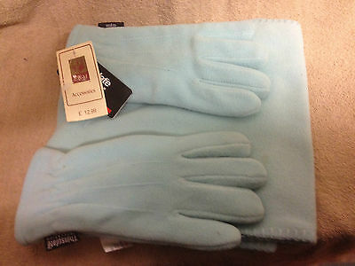 B.new W/ Tags Ewm Scarf & Thinsulate Glove Set Gorgeous Mint Colour Rrp £12.99