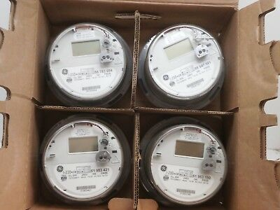 Lot of (4) GE I-120+ce Itron SSI 1210 1x Wireless Smart Watthour Meter CL200 240