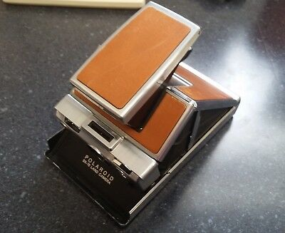 Vintage Polaroid SX-70 Land Camera Leather instant picture untested 1972