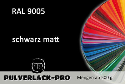 PULVERLACK RAL 9005 tiefschwarz matt 1 KG Pulverbeschichten Powder Coating Paint