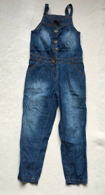 ***Next girls Blue Denim dungarees jumpsuit 8 years EXCELLENT!***
