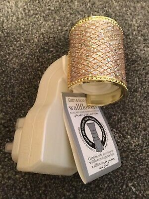 Bath and Body Works gold sparkly wallflower UK plug