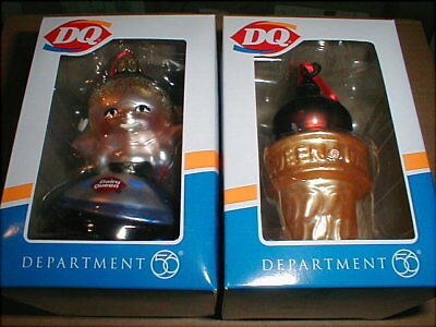 Vintage 60s Retro Dairy Queen Little Dutch Girl & Chocolate Dipped Cone Ornament