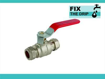 FtD 54mm APPROVED COMPRESSION LEVER BALL VALVE Red FULL BORE